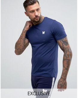 Muscle T-shirt In Navy With Chest Logo