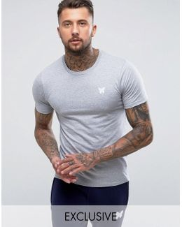Muscle T-shirt In Gray With Chest Logo