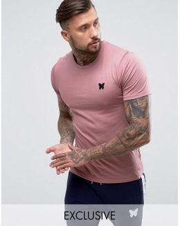 Muscle T-shirt In Pink With Chest Logo