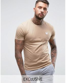 Muscle T-shirt In Stone With Chest Logo