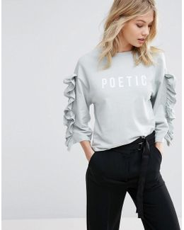 Poetic Ruffle Sweat Top