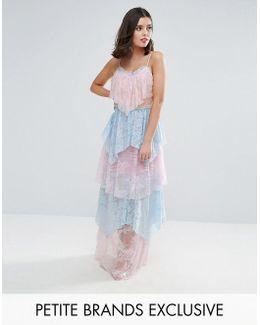Allover Premium Lace Tiered Maxi Dress