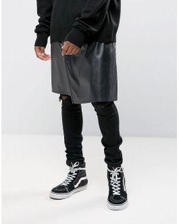 Kilt In Black Faux Leather