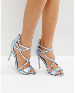 Fiesta Metallic Strap Heeled Sandals