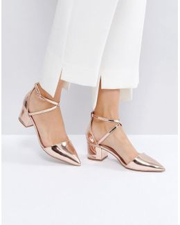 Ava Rose Gold Heeled Shoes