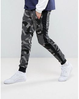 Printed Lounge Joggers In Black