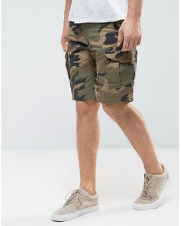 Intelligence Cargo Shorts In Loose Fit In Camo
