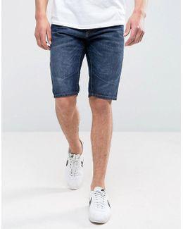 Intelligence Denim Shorts In Engineered Knee Length