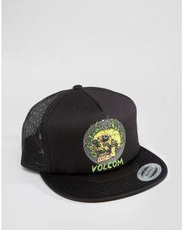 X Tetsunori Snapback Cap With Skull Logo