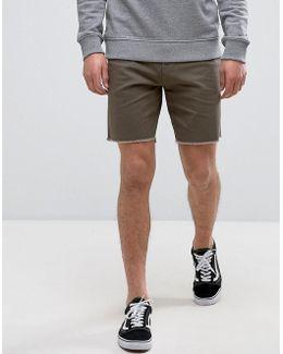 Atwell Shorts With Raw Hem