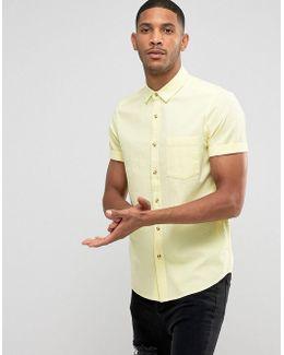 Regular Fit Textured Shirt In Yellow