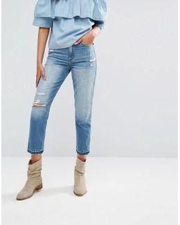Cropped Girlfriend Jeans