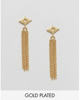 Gold Plated Faryn Fringe Earrings