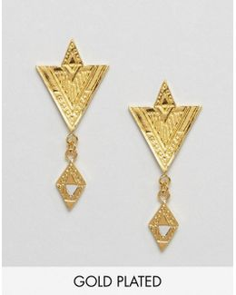 Gold Plated Shae Drop Earrings