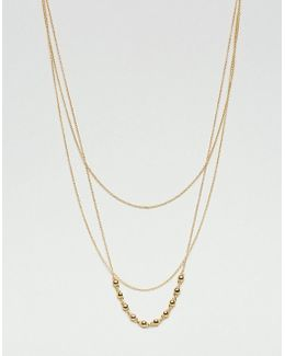 Gold Plated Multi Layered Necklace
