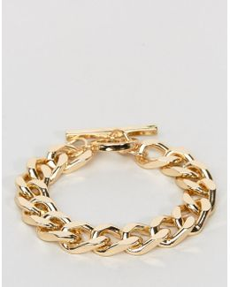 Oversized Chain Bracelet In Gold