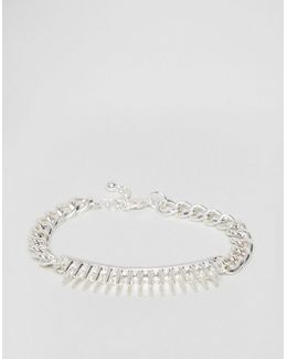 Mixed Chain Bracelet With Studs