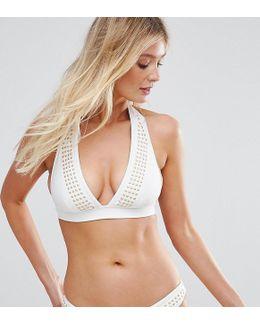 Studded Bikini Top B-f Cup