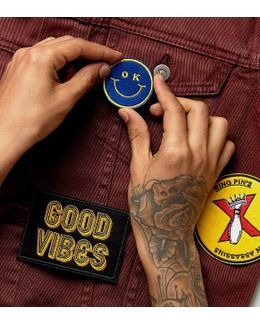 Iron On Patch 3 Pack With Novelty Good Vibes Design