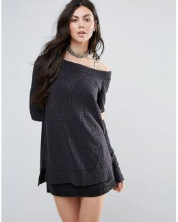 Kate Thermal Off Shoulder Knit Jumper