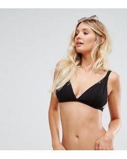 Ribbed Triangle Bikini Top B-f Cup