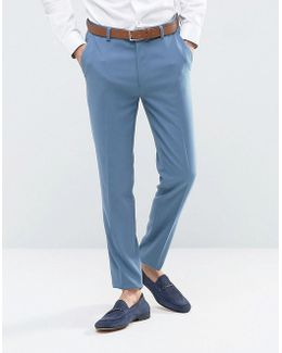 Skinny Suit Pants In Airforce Blue