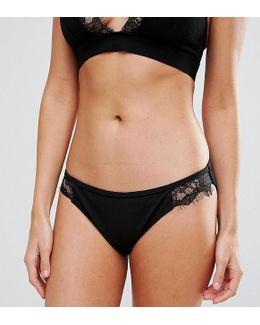 Lace Trim Bikini Bottom