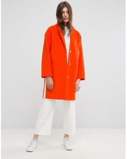 Slim Coat With Tape Detail
