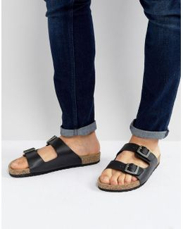 Sandals In Black With Buckle
