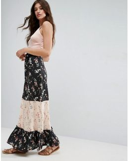 Maxi Skirt In Mix And Match Print