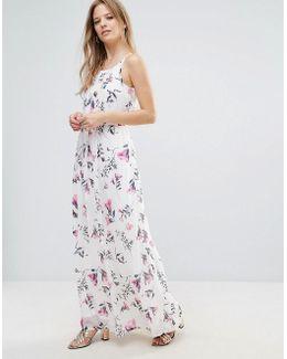 Floral Print Maxi Cami Dress