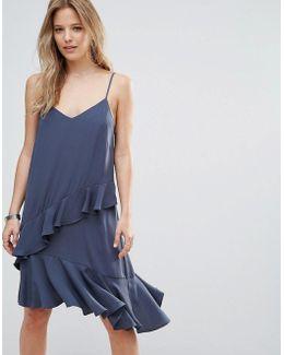 Double Layer Ruffle Cami Dress