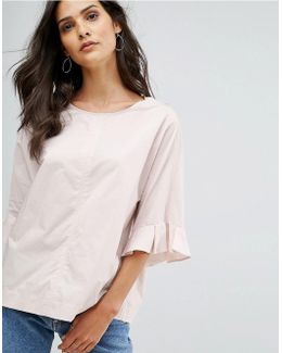 3/4 Frill Sleeve Blouse