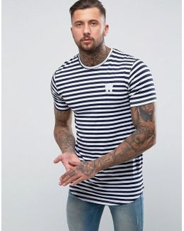 T-shirt In Navy Stripe