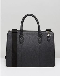 Briefcase In Black Leather