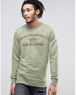 Crew Neck Sweatshirt With San Fran Print