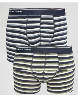 Trunks 2 Pack With Stripe