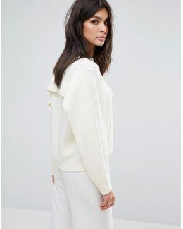 Cape Back Sweater