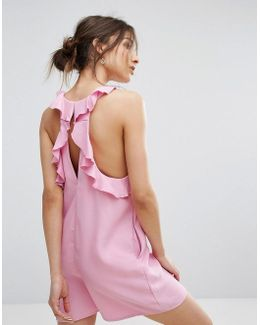 Back Frill Detail Playsuit