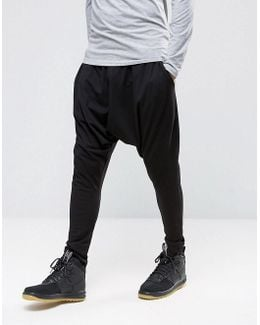 Extreme Drop Crotch Joggers In Lightweight Jersey