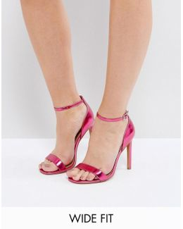 Hang Time Wide Fit Barely There Heeled Sandals