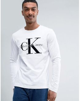 Calvin Klein Flocked Reissue Long Sleeve Top