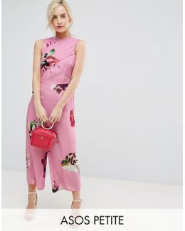 Jumpsuit In Large Rose Floral Print