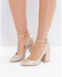 Pipeline Pointed Block High Heels