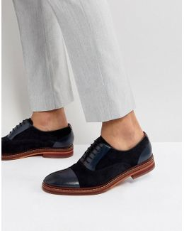 Saskat Suede Oxford Shoes In Navy