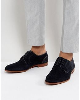 Iront Suede Derby Shoes In Navy