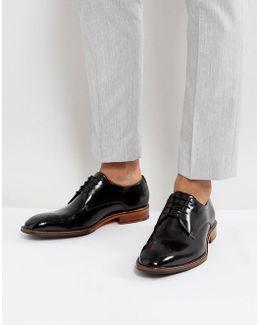 Marar Hi Shine Derby Shoes In Black