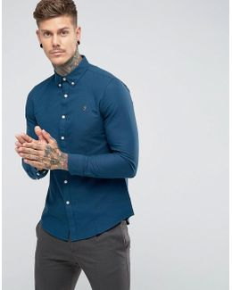 Brewer Slim Fit Oxford Shirt In Blue