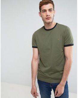 Groves Slim Fit Ringer T-shirt In Green