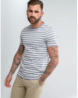 Lennox Slim Fit Striped T-shirt In Gray
